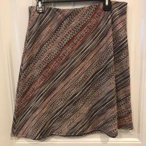 Margaret M pink/black tweed midi pencil skirt, L